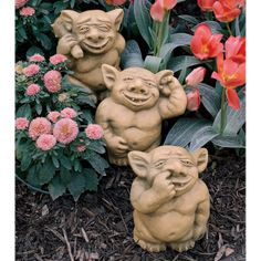Garden Troll Trio Statues | You Ve Stumbled Upon A Trio Of Gargoyles With  The