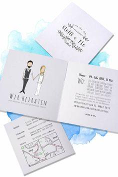 DIY-Queens, aufgepasst! Ihr möchtet eure Hochzeitseinladungen selbst gestalten? Dann haben wir eine tolle Idee für euch: Statt den Text auszudrucken, könnt ihr ihn auch einfach aufstempeln. Die individuell angefertigten Stempel mit Datum, Name & Co. gibt es bei Der kleine Sperling über