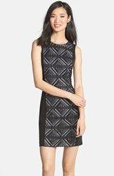 Vince Camuto Crochet Lace Front Dress