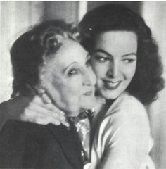 Maria Félix with the original Bella Otero Actress during the making of La Bella Otero version staring Maria Félix