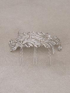 FORUM PEINETA - Peineta de novia vegetal en plata vieja y pedrería
