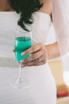 Turquoise Cocktail | Wedding Design by Stella and Moscha - Exclusive Greek Island Weddings | Photography by George Pahountis