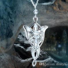 Wholesale Pendant Necklaces - Buy The Arwen Evenstar Pendant Crystal Stones Necklace Two Colors from Lord of Ring Torque Love Silver Necklace Crystal Love Gift, $4.69 | DHgate