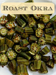 Roast Okra (quick and easy side dish) via @Tiffany Laurin (LoveSweatBeers)
