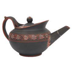 1stdibs.com | A Rare Wedgwood Encaustic Decorated Basalt Teapot