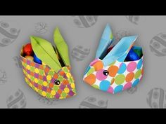 Origami Osterhasenkorb: Easter Bunny Box - Faltanleitung (Live erklärt) - YouTube