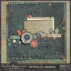 Scrapbooking TammyTags -- TT - Designer - Studio Blagovesta, TT- Item - Quick Page