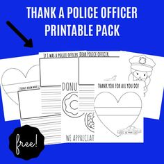 Thank a Police Officer- FREE Police Appreciation Printables for Kids Police Code, Police Officer, Police Activities, Activities For Kids, Kids Police, Police Wife Life, Funny Facts, Random Facts, Disney Secrets