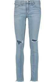 Rag & boneDistressed low-rise skinny jeans
