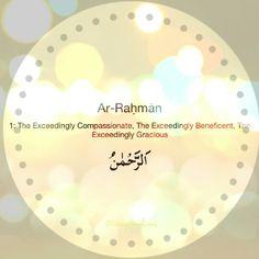 Ar-Rahman   #asmaulhusna