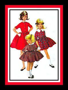 Vintage 1961  Darling Girls Dress In Three by FarfallaDesignStudio, $6.00