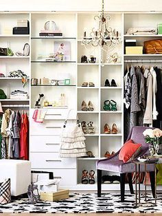 For your closet, decorate with patterns and colors that speak to you.