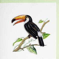 Quilled Tropical Bird - by: Quilling Card