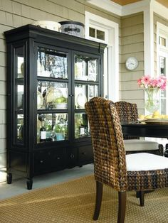 Love the black china cabinet