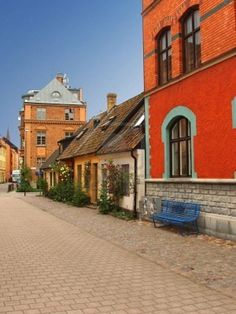 Malmo, Sweden. Traditional Swedish homes in old town. ASPEN CREEK TRAVEL - karen@aspencreektravel.com