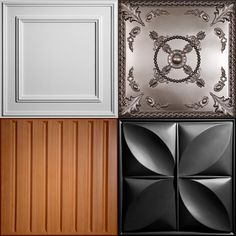 Decorative vinyl ceiling tiles and drop ceiling panels are affordable, easy to install/maintain, mold/mildew resistant and dust/rust free. Decor, Tiles, Mold And Mildew, Drop Ceiling Panels, Ceiling Treatments, Acoustical Ceiling, Remodel Bedroom, Decorative Ceiling Tile, Dropped Ceiling