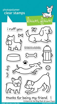 Lawn Fawn – Critters at the Dog Park Stamps
