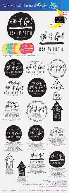 2017 Mutual Theme Marker Collection. FREE Logos! Use for Youth Conference, Girls…