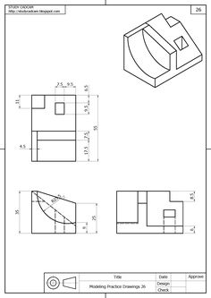 Drawing o Autocad Isometric Drawing, Isometric Drawing Exercises, 3d Drawings, Technical Drawings, Interesting Drawings, 3d Sketch, 3d Cnc, Principles Of Design, Ceramics Projects