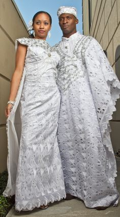 Looking for something different…not found in stores…with ethnic and cultural appeal. Wanting to make a statement on your wedding day? TeKay Designs specializes in cultural wedding attire. This stunning ethnic inspired wedding attire for bride and groom is made of white hand cut voile lace with stones, and silver lace trim.
