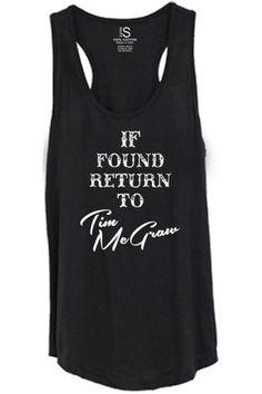 Women's Return to Tim McGraw Tank Top