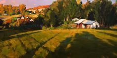 """Afternoon Shadow""  by Min Ma, artist, original landscape paintings at White Rock Gallery"