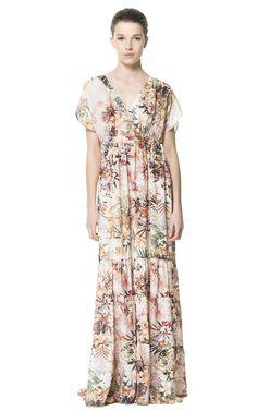 printed maxi dress #Zara