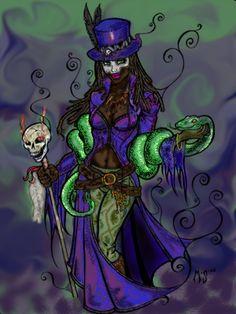 voodoo queen | Voodoo Queen Colored by ~myrrth1331 on deviantART