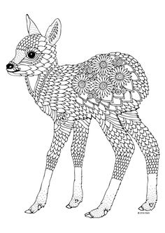coloring page for adults - illustration by Keiti