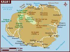 Kaua'i points of interest ~ Hawaii Map