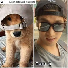 "25 個讚,1 則留言 - Instagram 上的 Debbie Moh(@debbie_moh):「 #Repost @sunghoon1983_support ・・・ 🐕👲""twins""😂😂😂 poster by fans Thank you❤🙏 . . #sunghoon #성훈 #배우성훈 … 」"