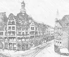 KN Gebäude als Zeichnung