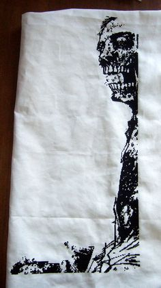 The Walking Dead cross stitch WIP by Cross-stitch ninja, via Flickr (The caption says it all!)