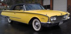 1960 - #Ford #Galaxie Sunliner #Convertible looking beautiful in yellow. #Classic #Style #Design