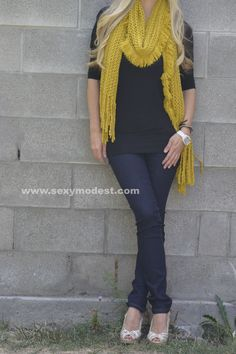 Love the yellow! #sexymodest  www.sexymodest.com