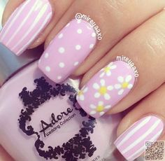33. Pale Pink with #Yellow - Summer Gets Even Hotter with #These Nail Art Ideas ... → #Nails #Summer