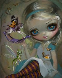 Alice in Wonderland Art Prints Archives - Strangeling: The Art of Jasmine Becket-Griffith Amy Brown, Fairy Pictures, Gothic Fairy, You Draw, Fairy Art, Dragons, Alice In Wonderland, Illustration, Fantasy Art