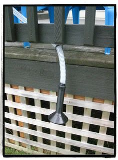 DIY playground talk tube. we have to do this for the tree house! so fun!!
