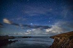 """Dark Sky in Ireland: """"IDA announced today it has named the first International Dark Sky Place in the Republic of Ireland. Kerry International Dark Sky Reserve is the first Gold-tier Dark Sky Reserve in the northern hemisphere and among the darkest places in Europe."""" """"Amazing photo of Orion the Hunter"""" in Southwest Ireland."""