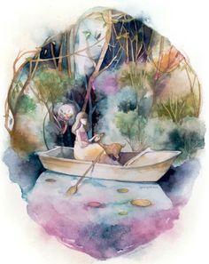Resultado de imagem para Mixed Media Illustrations by Valerie Ann Chua