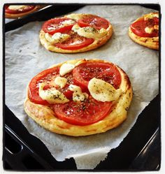 Tartelettes tomates ch�vre et moutarde - �d�lices : Recettes de cuisine faciles et originales !