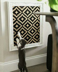 Easy DIYs for Cats and Cat Lovers You'll love making these cute feline-friendly DIY projects almost as much as you love your cat. You'll love making these cute feline-friendly DIY projects almost as much as you love your cat. Cat Scratcher, Cat Room, Animal Projects, Cat Furniture, Cat Scratch Furniture, Woodworking Furniture, Furniture Plans, Furniture Makeover, Diy Stuffed Animals