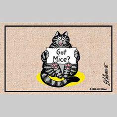 """Kliban cat """"Got mice?"""" doormat by DeeDeeQ5724, via Flickr"""