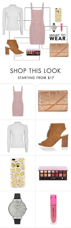 What to Wear by kerriturner on Polyvore featuring Topshop, River Island, Olivia Burton, Anastasia Beverly Hills and Jeffree Star
