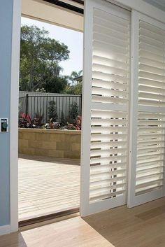 Shutters For Covering Sliding Glass Doors I LOVE How There Is - Porte placard coulissante jumelé avec serrurier paris dimanche