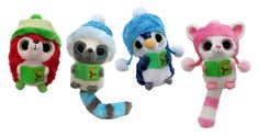 Sing your favorite holiday song with our Carolers Assortment set. Each plush toy plays a different song to sing a long with!