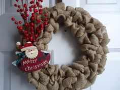 Christmas Wreath  Winter Wreath  Red Berry by adorableaDOORnments