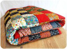 """Couverture en patchwork """" Prairie"""" - tuto couture - Patrons et tutoriels de couture chez Makerist"""