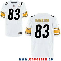 c8650828998 ... Mens Pittsburgh Steelers 83 Cobi Hamilton White Road Stitched NFL Nike  Elite Jersey Autographed Heath Miller Pittsburgh Steelers Black ...
