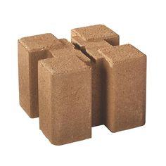 Oldcastle 7.5 in. x 7.5 in. x 5.5 in. Tan Brown Planter Wall Block